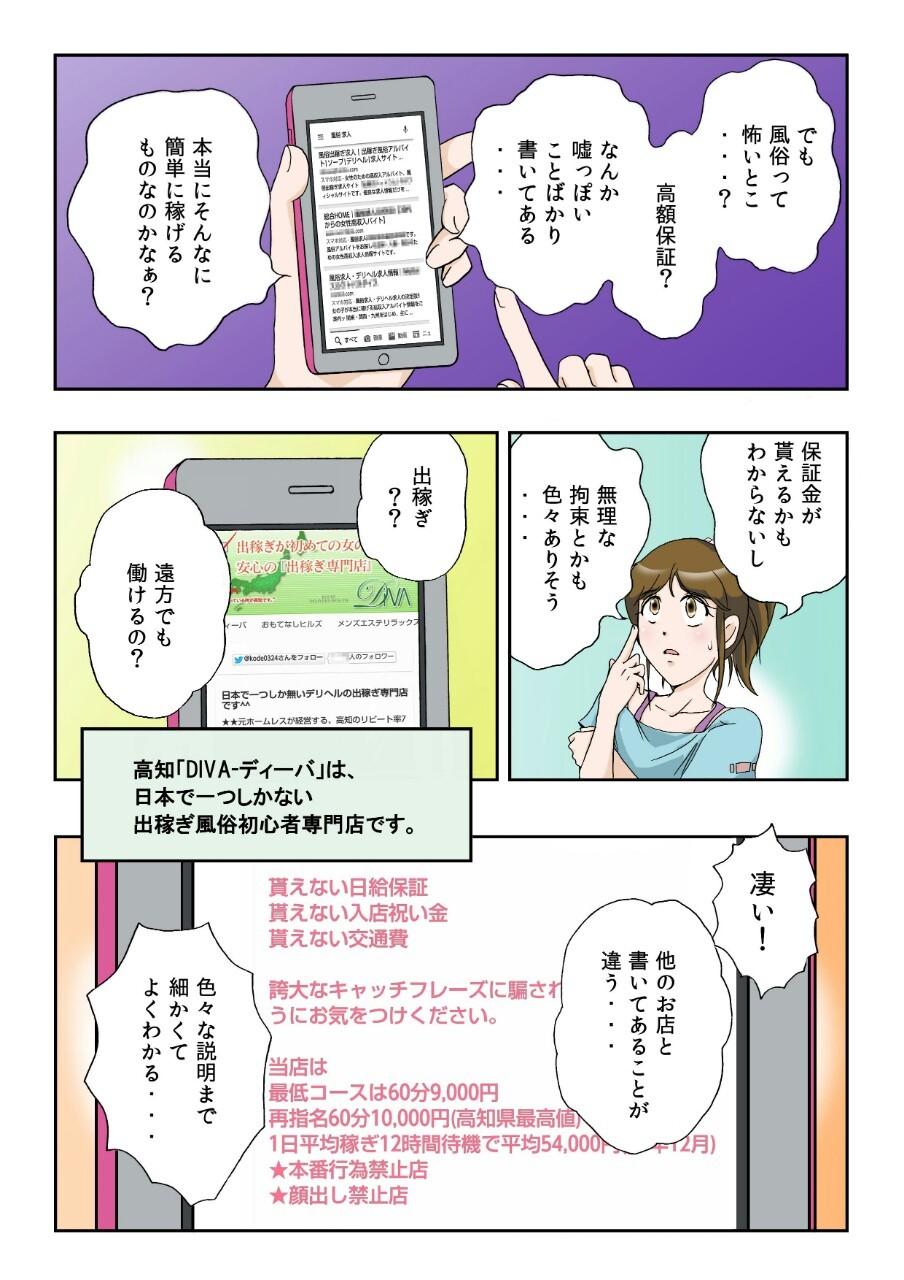 出稼ぎ漫画その2 お店を見るける???