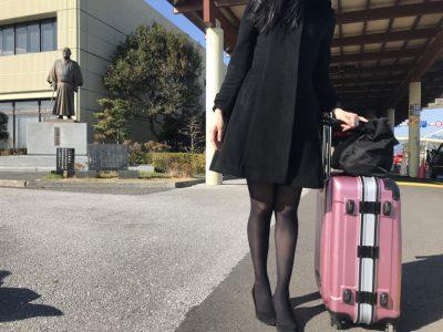お見送り時に高知空港で撮影