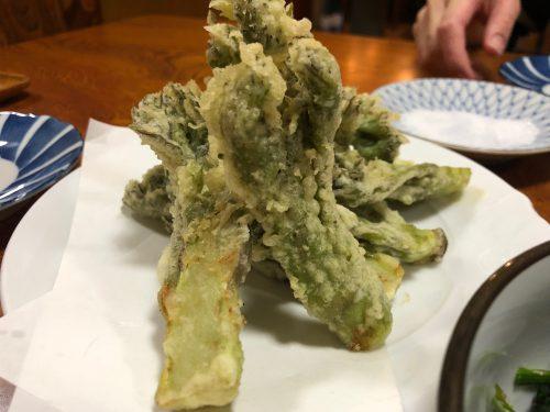 山菜の王様、たら芽の天ぷら