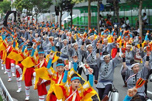 8月の9日から4日間開催されるお祭りです。寮から徒歩5分圏内で見る事が出来ます。