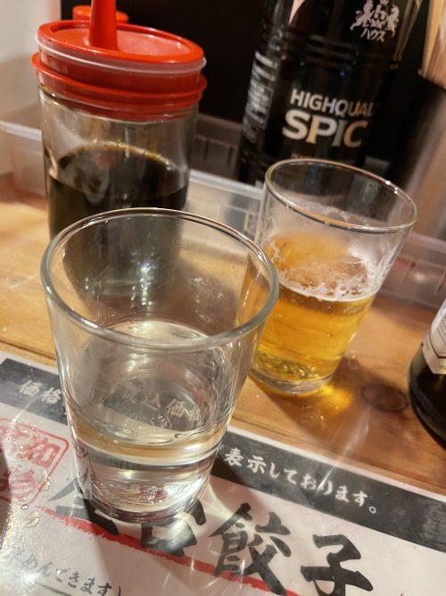 熱燗とビールで乾杯!!この時点で優勝です!!